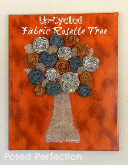 fabric rosette tree