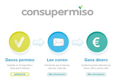 Ganar dinero recibiendo emails de Consupermiso