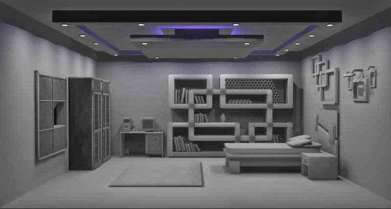 3d world room interior modeling mental ray render 3d room
