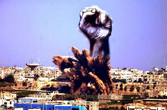 KREATIF Warga Palestin Menukarkan Gambar Letupan Bom Kepada Sesuatu Yang Kreatif