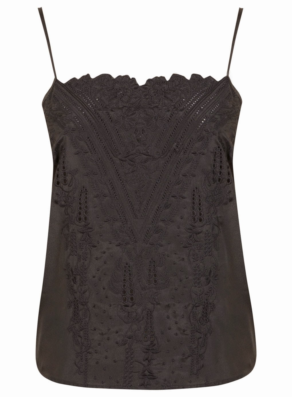 pretty cami top, miss selfridge black cami,