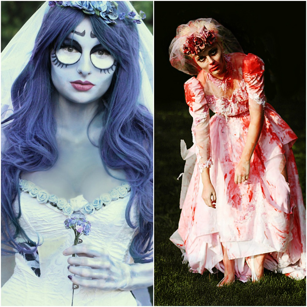 corpse bride zombie bride outfit ideas for halloween fancy dress costumes 2014