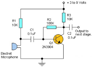 Simple Pre-Amplifier circuit with One Transistor