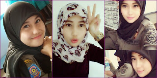 Foto Nurul Habibah, Satpol PP Cantik dari Berhijab sampai Buka Jilbab