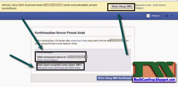 cara daftar facebook dengan nomer Hp