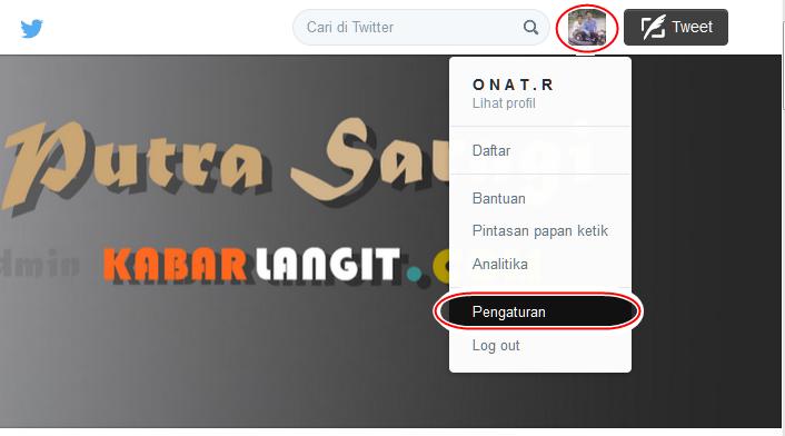 Pengaturan Twitter