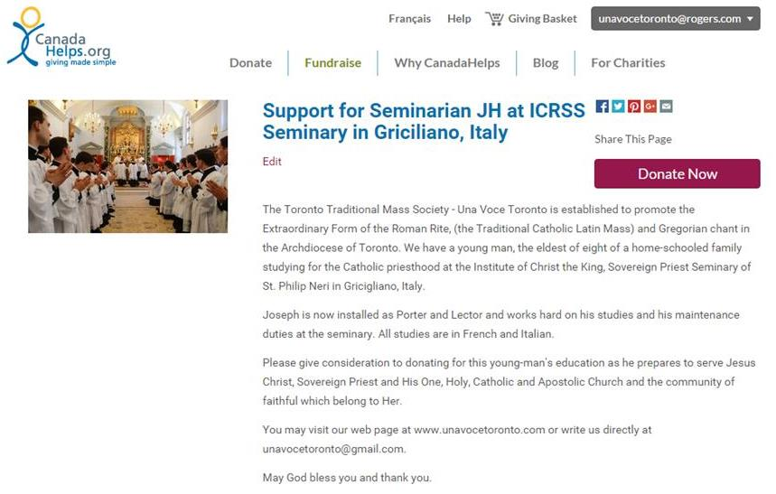 Click the picture to help a Seminarian Abbé Joseph Heppelle