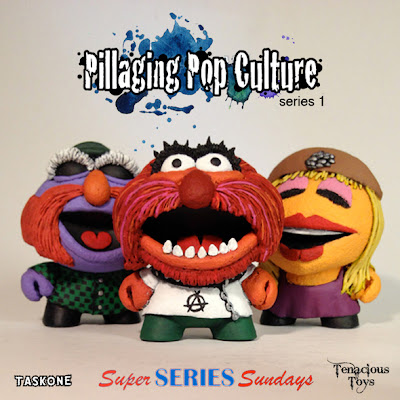 """Pillaging Pop Culture"" Custom The Muppets Blind Box Series Wave 6 by Task One - Sgt. Floyd Pepper, Animal & Janice"