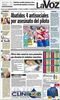 PRIMERA PAGINA DE LA VOZ DE VENEZUELA