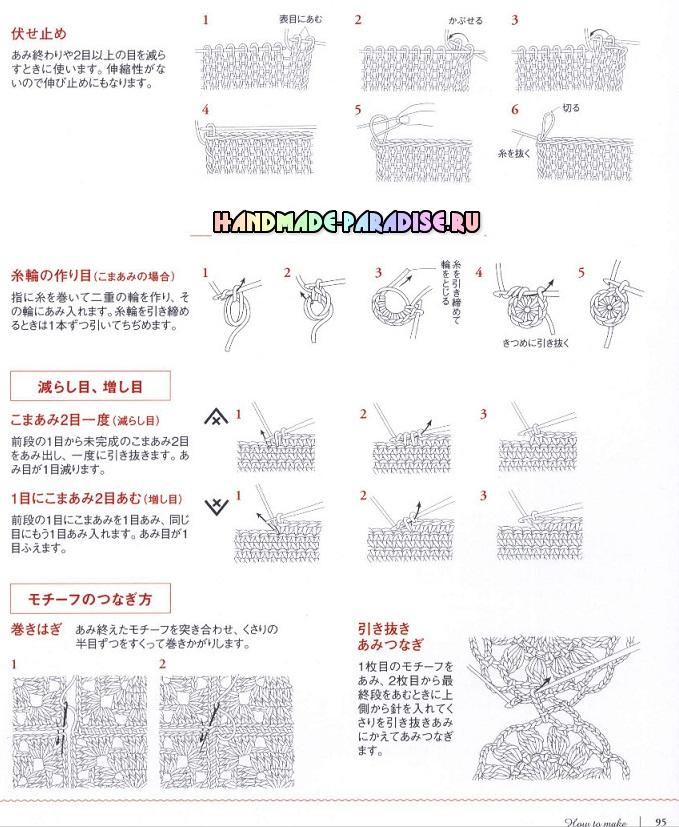 Японский журнал со схемами вязания аксессуаров и предметов интерьера