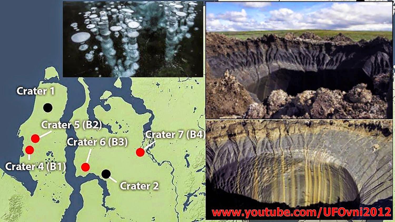 Des dizaines de nouveaux cratères suspects Dans le Nord de la Russie, le 24 février 2015