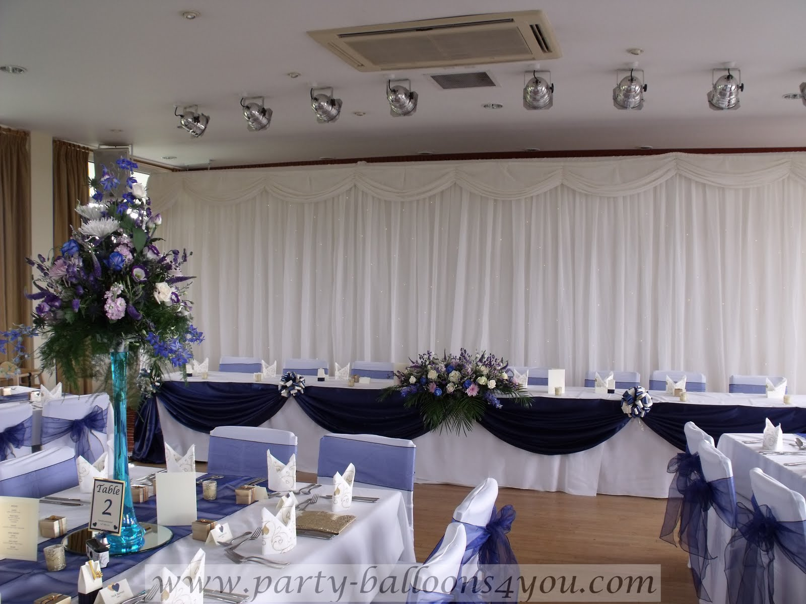 party balloons 4 you may 2011 With navy blue wedding decorations