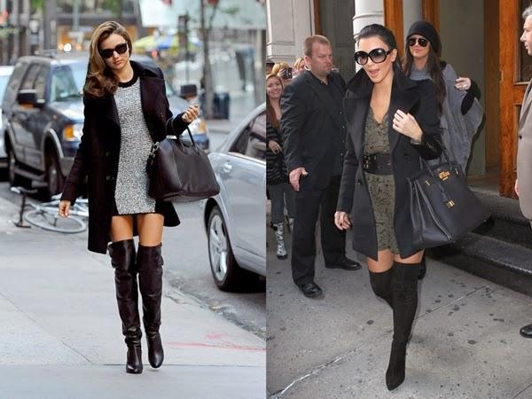 Miranda Kerr e Kim Kardashian sobretudo