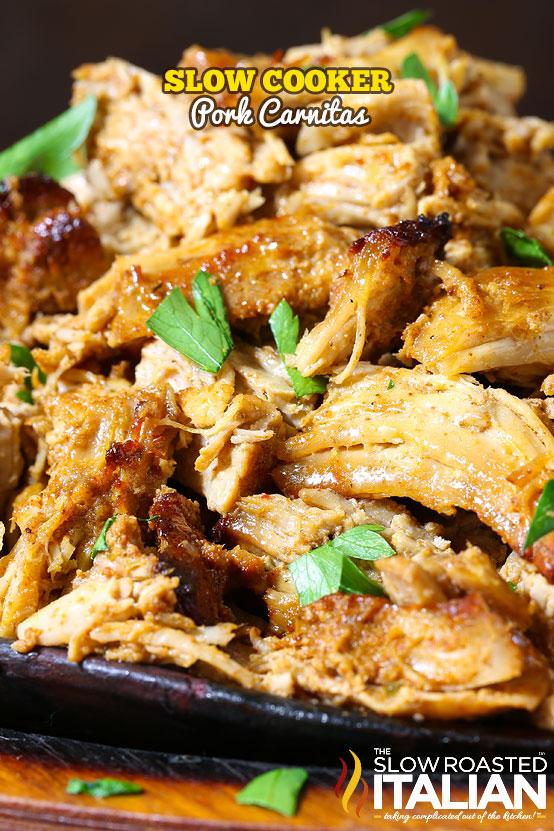 Slow Cooker Carnitas Recipe — Dishmaps