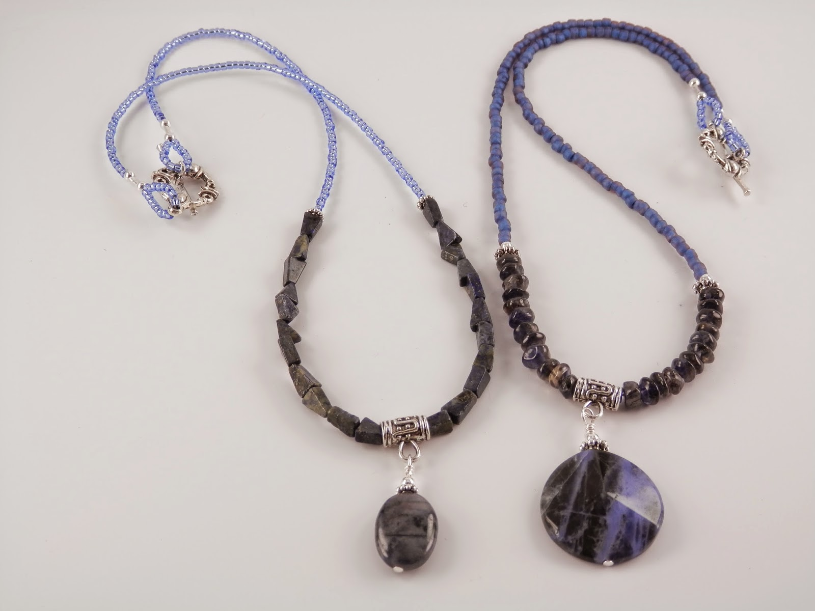 iolite sterling teardrop kyanite pendant set etsy via bezel handmade pin with silver necklace