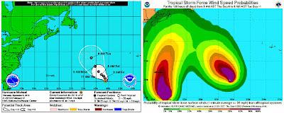 Ubicación huracán Michael categoría 3, el 06 de Septiembre 2012