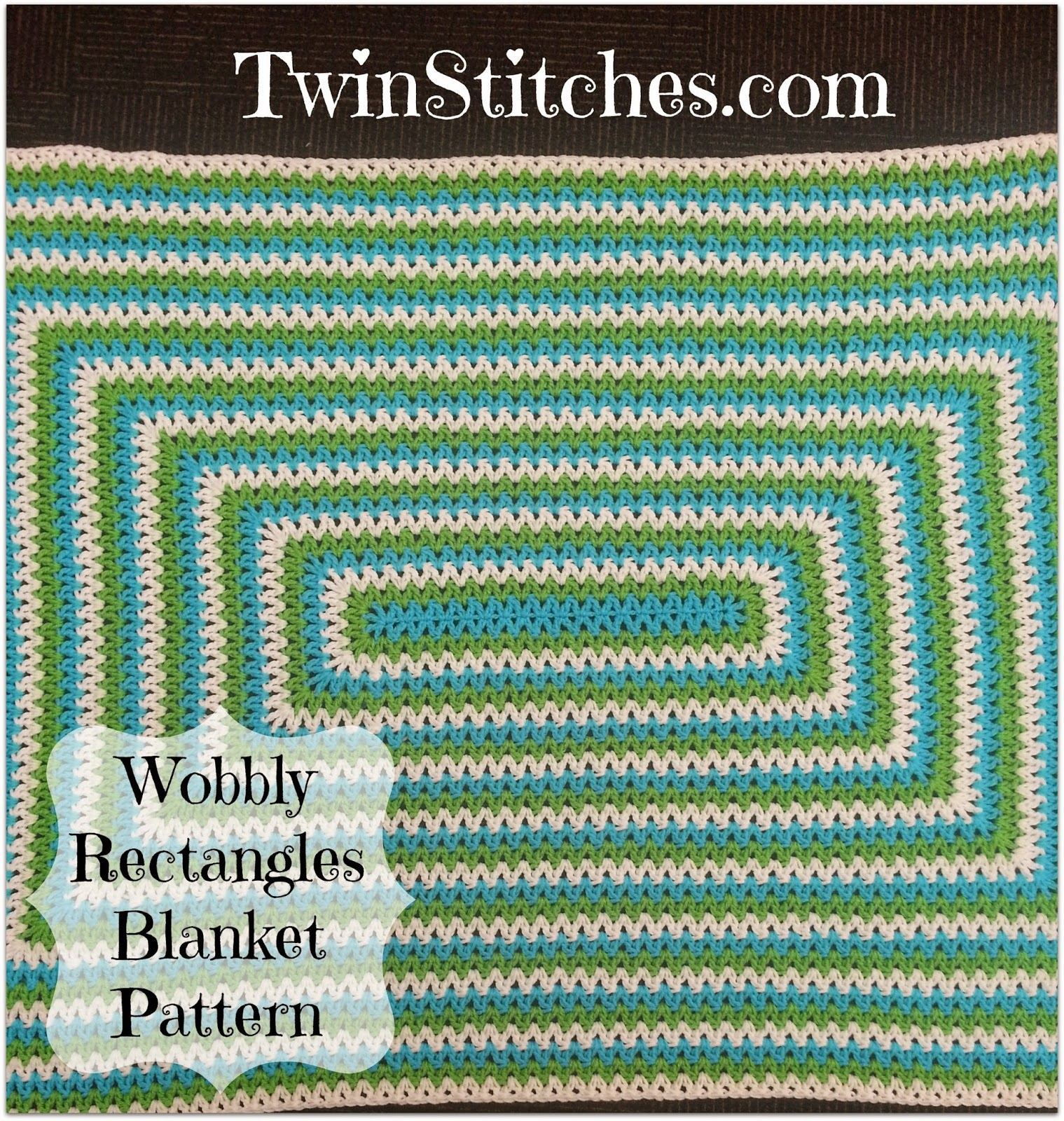 Tw-In Stitches: Wobbly Rectangles Blanket - Free Pattern | Tw-In ...
