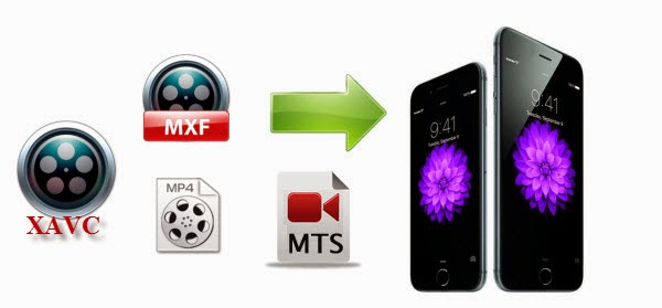 Get MTS, M2TS, TS, MXF, MP4, XAVC videos onto iPhone 6(Plus)