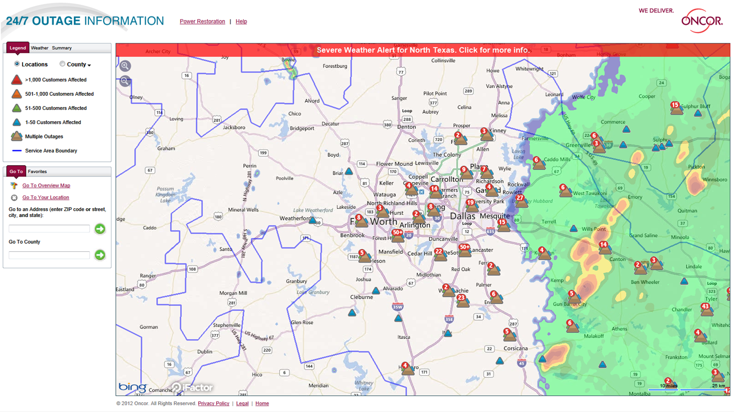 Oncor Outage Map ~ EXODOINVEST