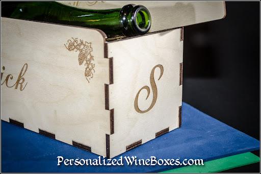 wood wine box, wine gift, retirement gift