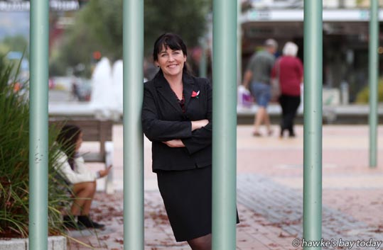Susan McDade, new manager, Hastings City Business Association, pictured in the CBD, Hastings Mall, Hastings photograph