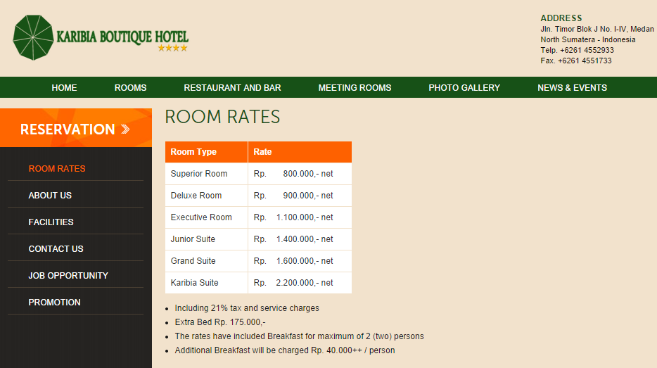 Karibia Boutique Hotel Medan aiza89 screencapture
