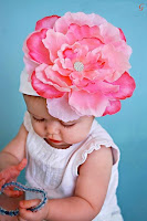 cute Babies images of kids Pink Flower Cap Baby Pictures