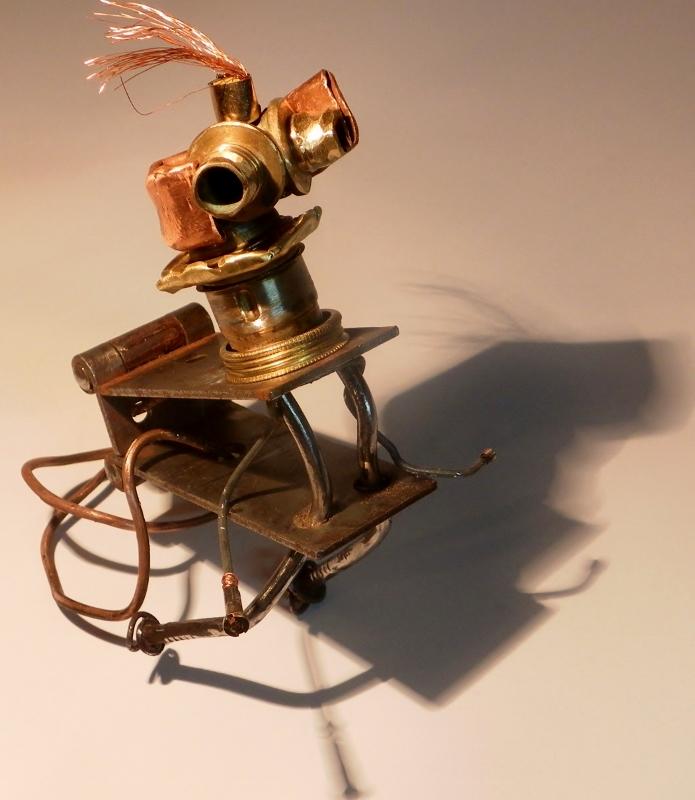 """Sculpture métal : """"Le cirque - Ernest """" recyclage artistique par amasculpteur"""