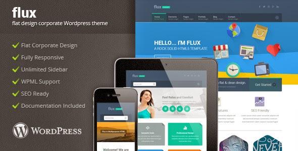 ThemeForest – Flux v.1.0 – Flat Corporate WordPress Theme 2