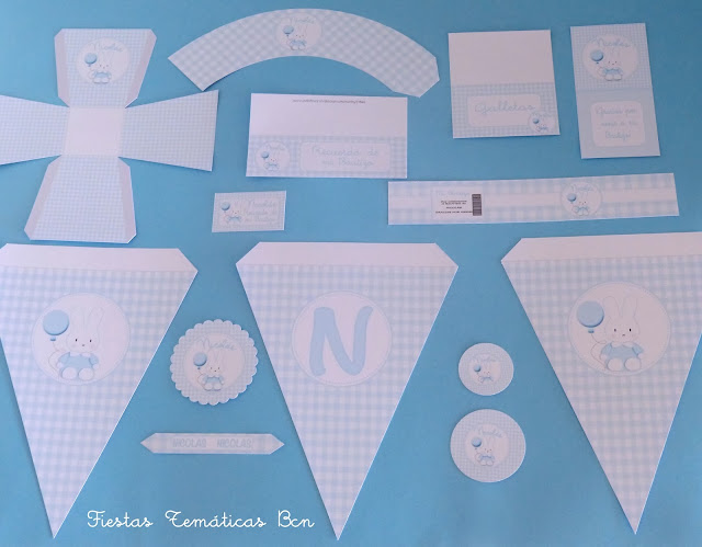 Kit de fiesta nacimiento o baby shower conejito
