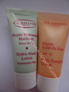 Clarins♥ dobry krem matujący i Fluid energetyzujący na dzień z SPF15