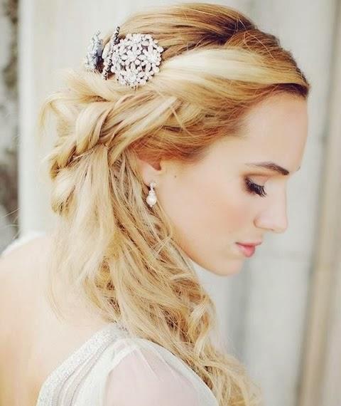 Peinados vintage para bodas - Peinado para boda de dia ...