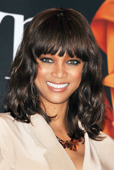 Tyra Banks Medium Hairstyles