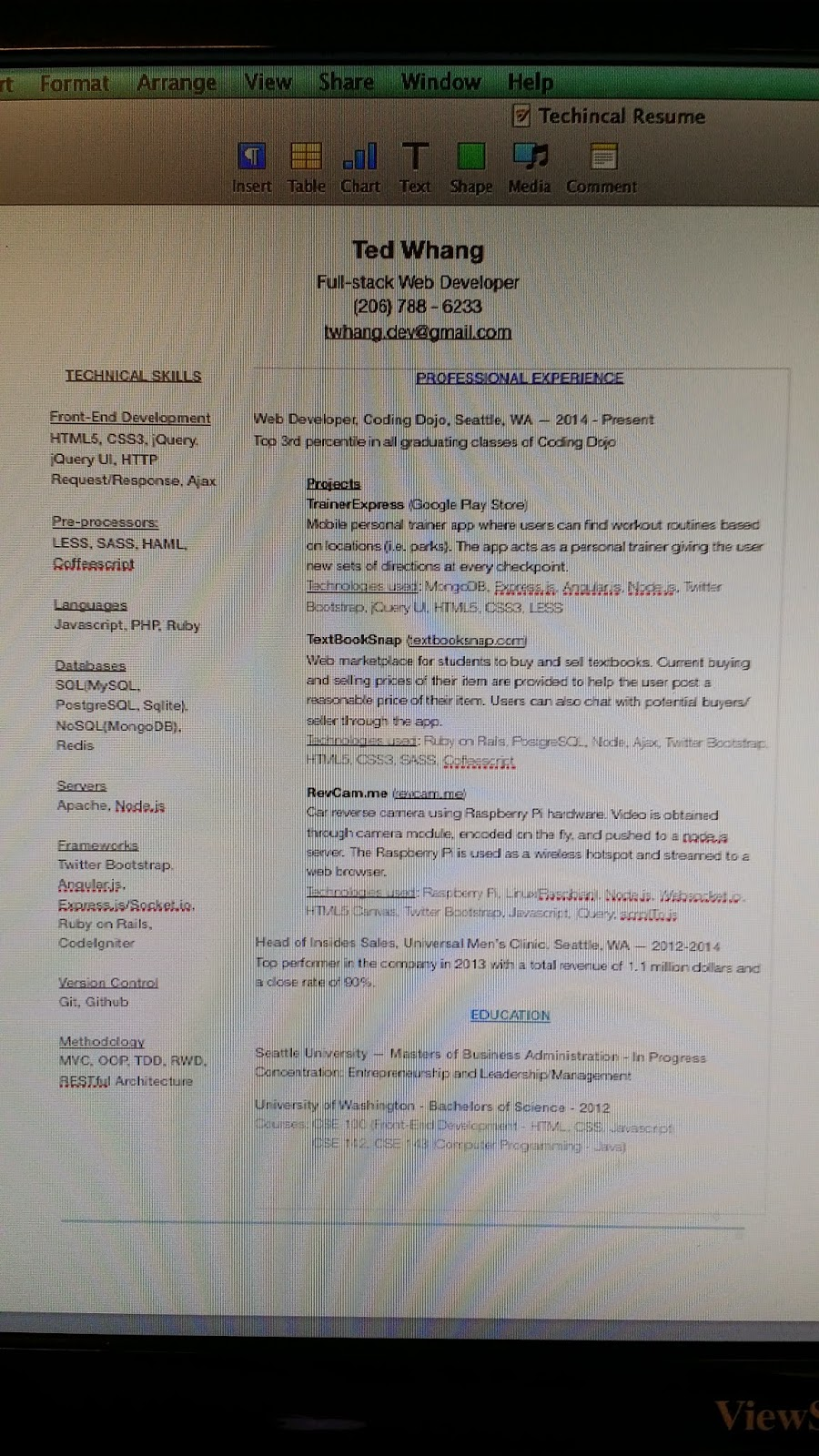 margins for resume - Picture Ideas References
