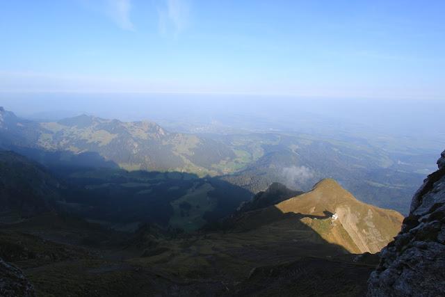 Greenery mountain with blue sky at Pilatus Kulm (Mount Pilatus) in Lucerne, Switzerland