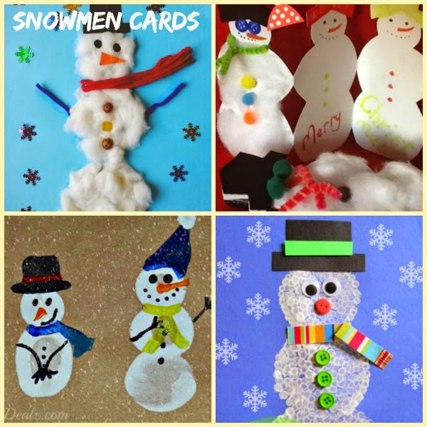 Snowman handmade holiday cards