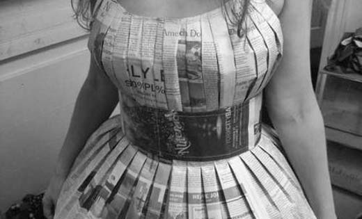 How to Make Newspaper Dresses