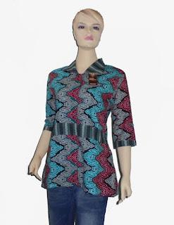 Baju batik kantor wanita