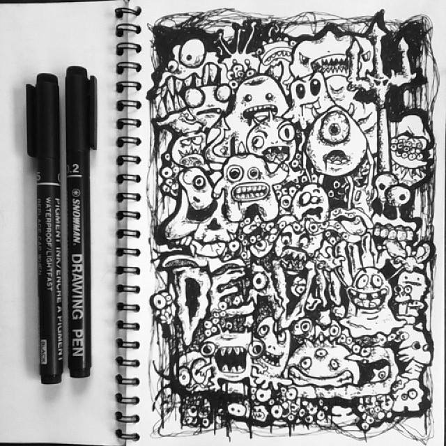 Doodle art dead