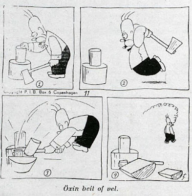 tira comica caricatura del primer homero simpson