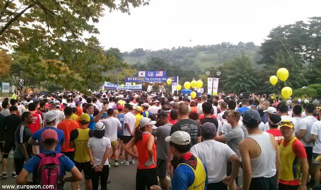 Salida del medio maratón de Seúl