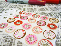 http://shadesoftangerine.blogspot.com/2016/01/donut-sticker-diy.html