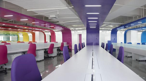 In design magz modern office interior design with bright for Office design colors