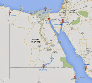east route border crossings with 4x4. Howto reach or avoid egypt on the east route