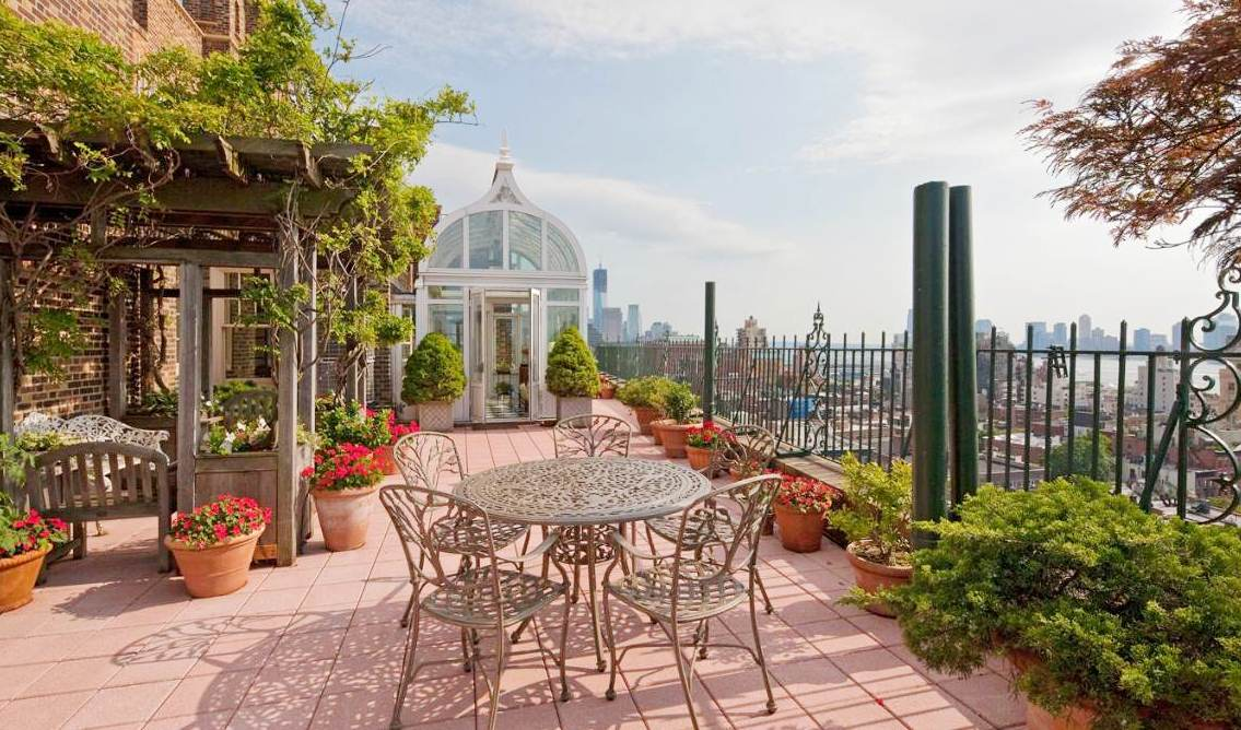 See this house a multi million west village penthouse for Terrace gazebo