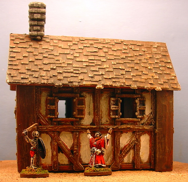 house - 15mm Half Timber House for Mordheim HTH+2