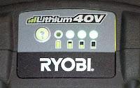 Ryobi 40V Lithium Ion Battery