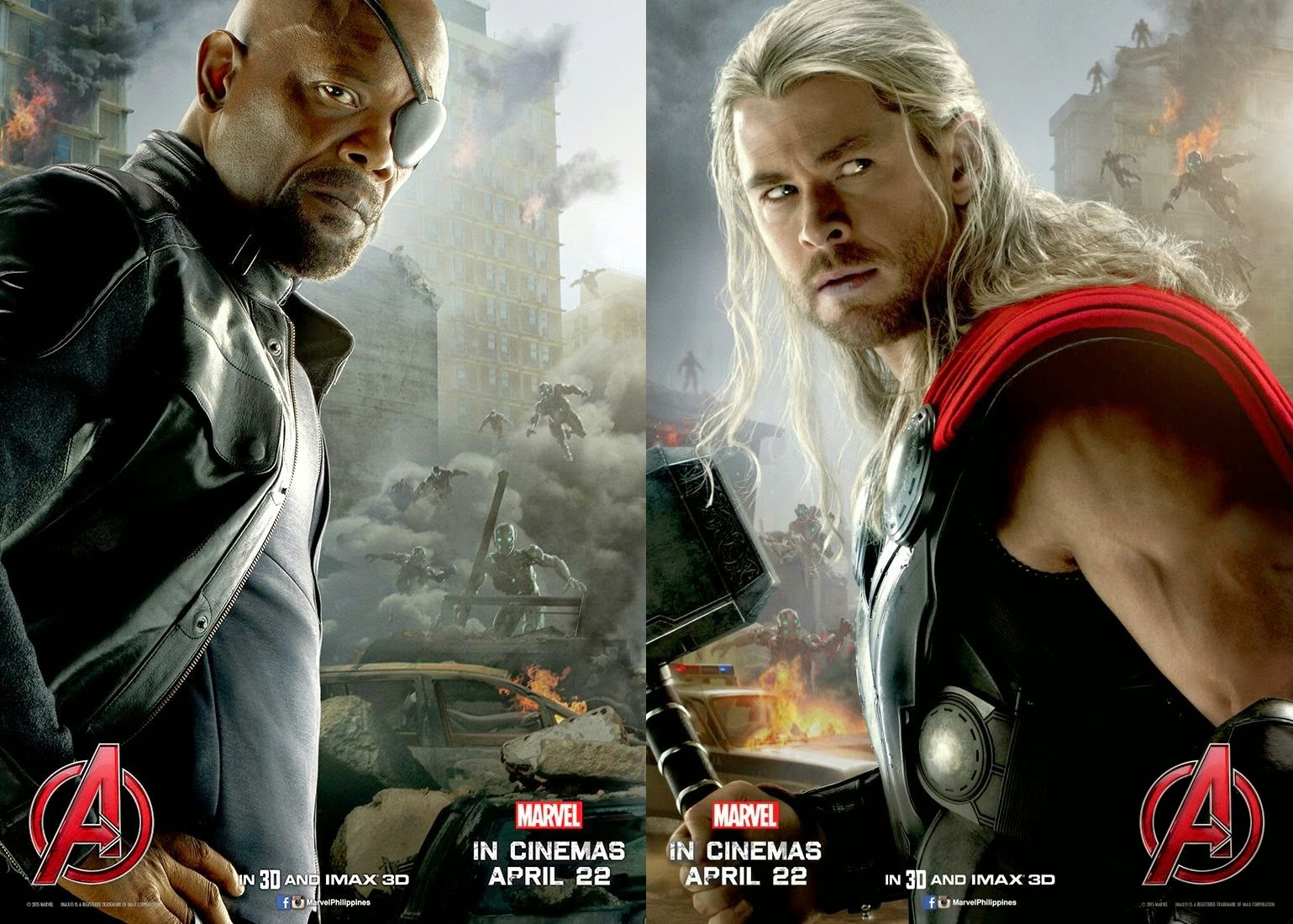 Nick Fury and Thor Movie Poster