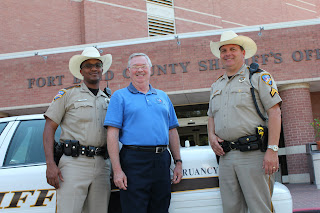 The Truancy Guys from the Fort Bend Sheriff's Office include (l to r) Deputy Jerome Ellis, Juvenile Outreach Coordinator Dennis McAfee and Corporal Roger Barton