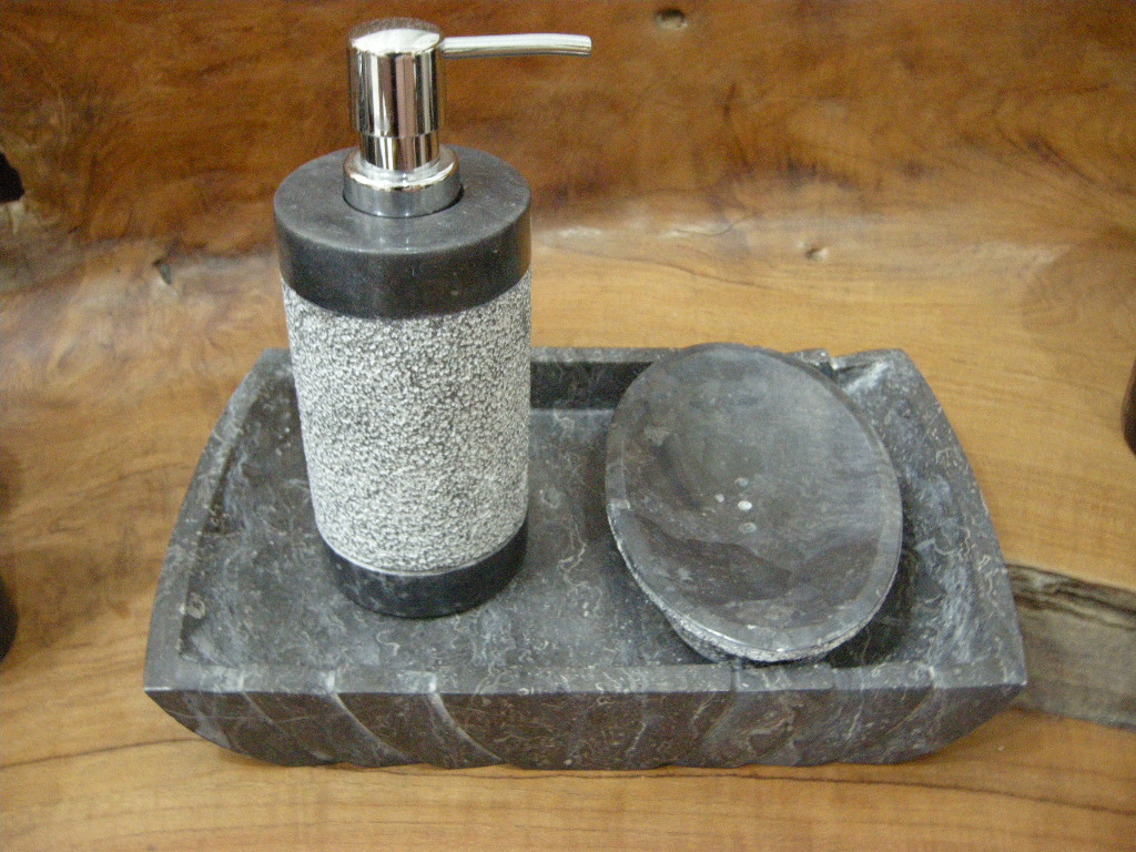 Stone bathroom products for Stone bathroom accessories sets